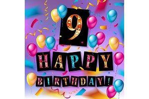 9th Birthday Celebration