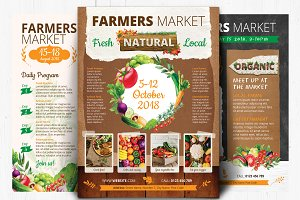 Organic, fresh, natural flyers