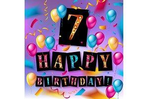 7th Birthday Celebration