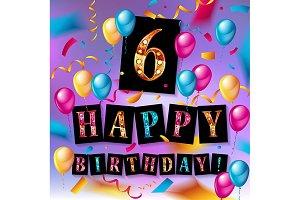 6th Birthday Celebration
