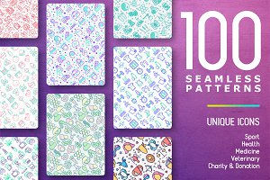 100 Seamless Patterns Collection