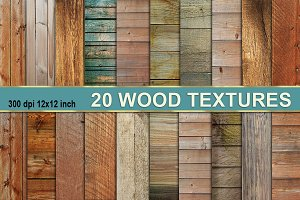 Old Dark Wood Texture Backgrounds