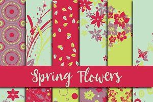 Spring Flowers Digital Paper