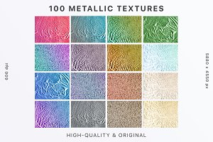 100 Original Metallic Textures