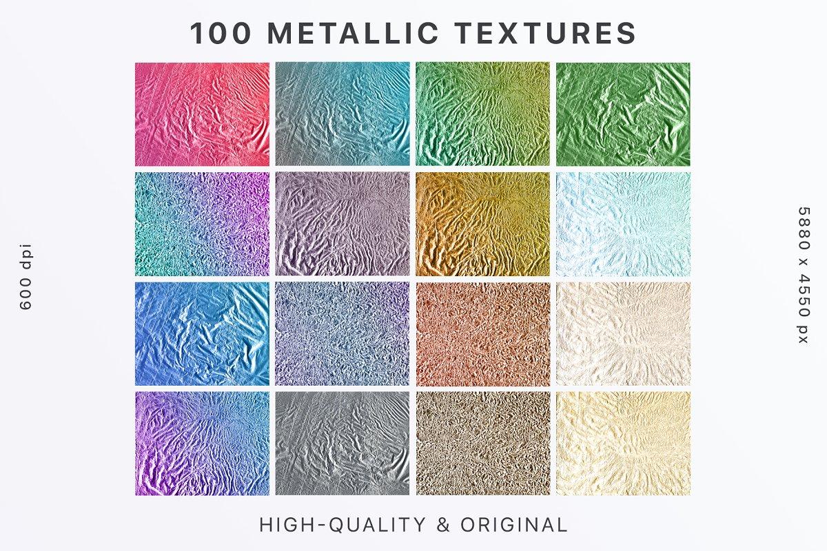 100 Original Metallic Textures ~ Textures ~ Creative Market