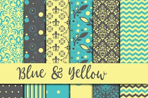 Blue & Yellow Digital Paper