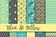 Blue & Yellow Digital Paper