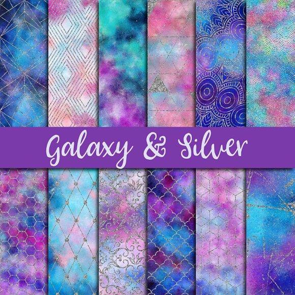 Galaxy Silver Glitter Paper