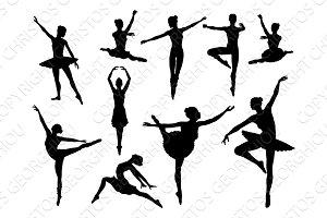 Dancing Ballet Dancer Silhouettes