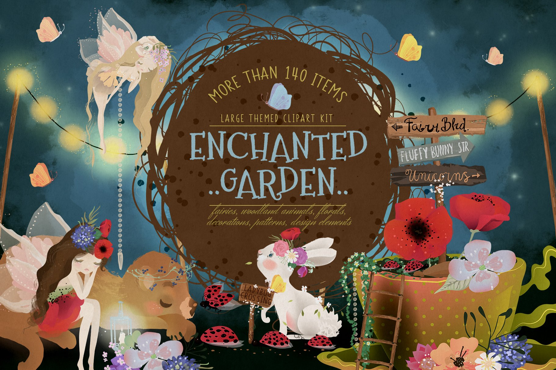 Enchanted Garden Illustrations Creative Market