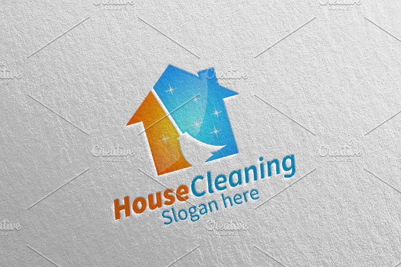 House Cleaning Services Logo Design