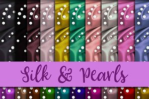 Silk & Pearls Digital Paper