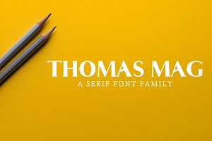 Thomas Mag Serif 9 Fonts Family Pack