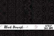 Black Damask Digital Paper