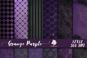 Grunge Purple Digital Paper