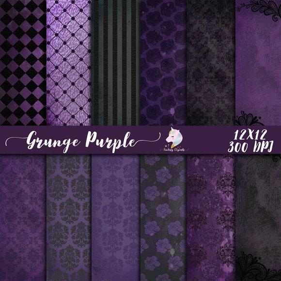 Grunge Purple Digital Paper