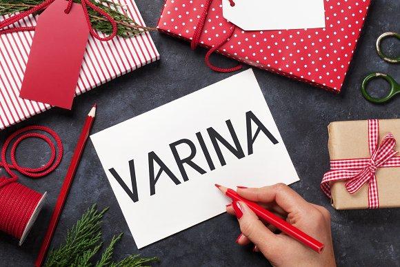 Varina Sans Serif 5 Font Family