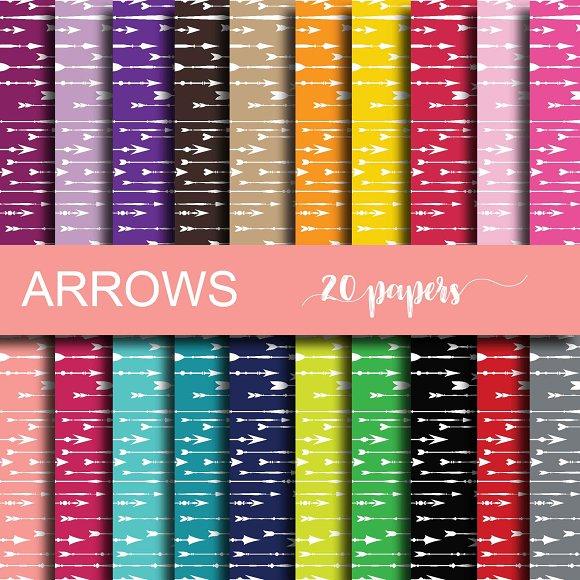 Arrows Digital Paper in Patterns