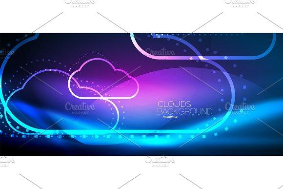 Vector Cloud Computing Storage Concept
