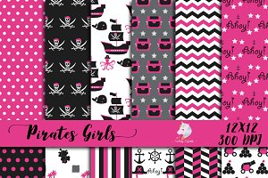 Pirate Girls Digital Paper