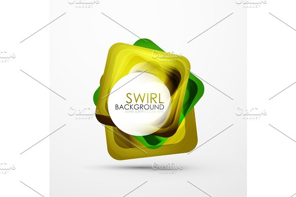 Square Swirl Abstract Banner