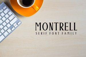Montrell Serif 5 Font Family Pack