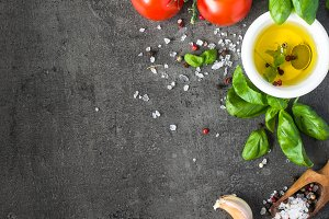 Ingredients for cooking. Food background top view.