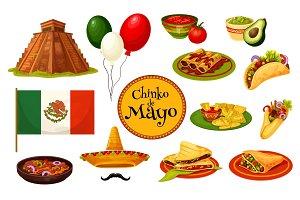 Cinco de Mayo mexican holiday traditional symbol