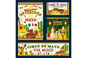 Cinco de Mayo mexican fiesta party poster design
