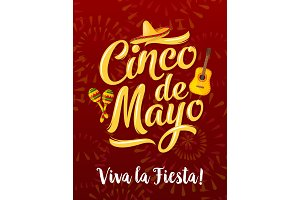 Mexican fiesta banner for Cinco de Mayo holiday