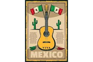 Mexican holiday Cinco de Mayo fiesta sketch poster