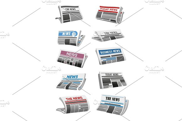 Newspaper 3D Icon Of Folded News Paper Sheet