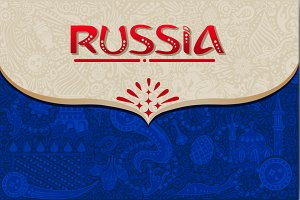 Russia world cup blue background