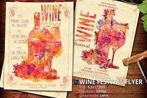 Wine Festival Flyer Poster Vintage