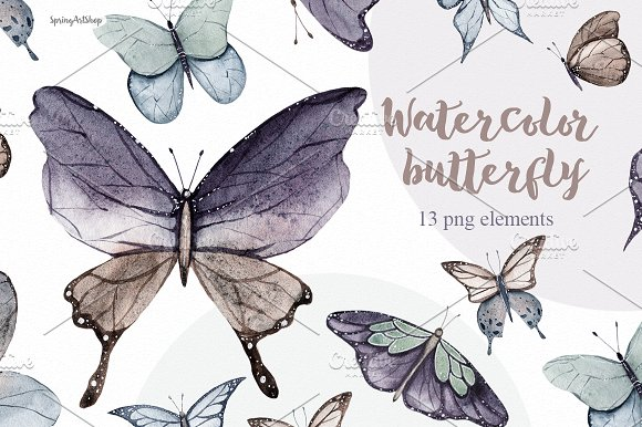 Spring Watercolor Butterfly