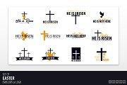 He is Risen. Easter Emblems/Logo