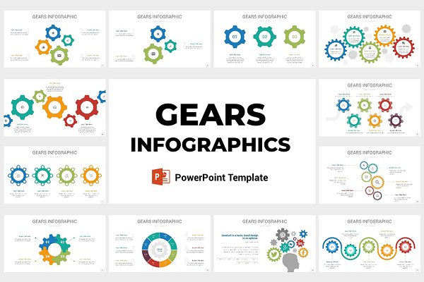 Gears Infographics PowerPoint