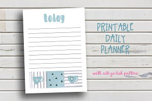 Cute Cup Daily Planner
