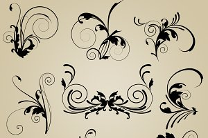 Elegant Flourishes Vectors & Clipart