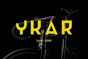 Ykar — futuristic sans serif font