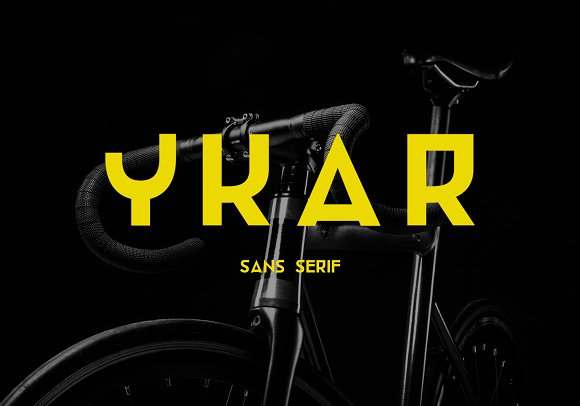 Ykar Futuristic Sans Serif Font