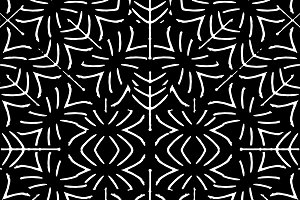 Black and White Ethnic Geometric