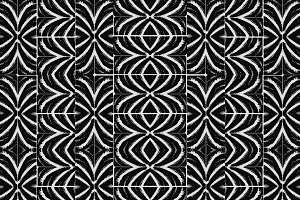 Black and White Tribal Bold Pattern
