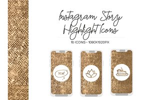 Gold Instagram Stories Icons
