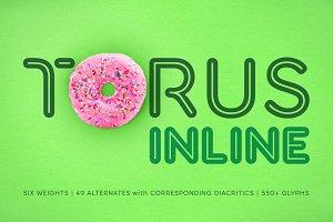 Torus Inline – 6 Font Family