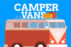 Camper vans Illustration Pack