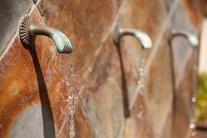 Beautiful Stone Wall Water Fountain