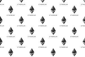 Ethereum Symbol Seamless Pattern