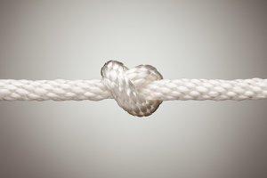 Nylon Rope Knot in Spotlight