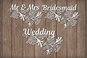 Friezes Wedding  floral SVG files